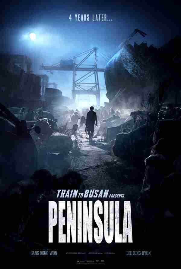 póster de train to busan 2 peninsula, tren a busan, invasion zombie, estación zombie
